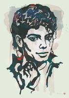 Michael Jackson Etching Pop Art Poster