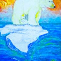 Polar Bears Story - looking Art Prints & Posters by MARIE LOH