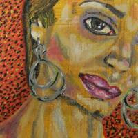 Yellow a Portrait of a Woman Art Prints & Posters by Susan Shiney