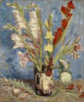 Vincent van Gogh,Vase with gladioli and China aste