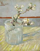 Van Gogh, Sprig of flowering almond in glass