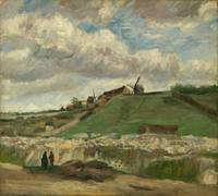 Van Gogh,  Hill of Montmartre with stone quarry