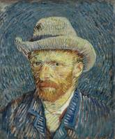 Van Gogh, Self portrait with gray felt hat