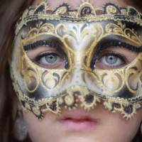 Girl with a Mask by Betty Sederquist