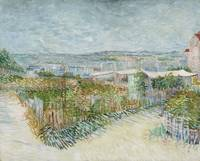 Van Gogh, Montmartre: behind the Moulin de la Gale