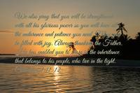sunset Colossians 111-12