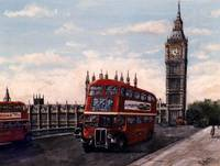 London Bus and Westminster Bridge (Commission)