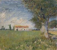 Van Gogh,Farmhouse in a wheat field