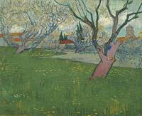 Van Gogh, Orchards in blossom, view of Arles