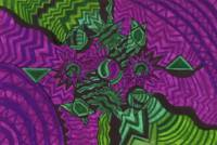 Yin and Yang Green and Purple Haze