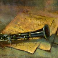 Clarinet by Hall Groat II - www.HallGroat.com Art Prints & Posters by Hall Groat II