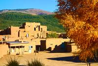 Taos Pueblo South in Autumn
