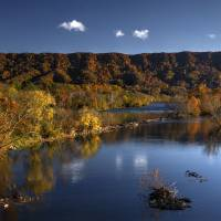 """Autumn on Holston River - Print"" by artbytlh"