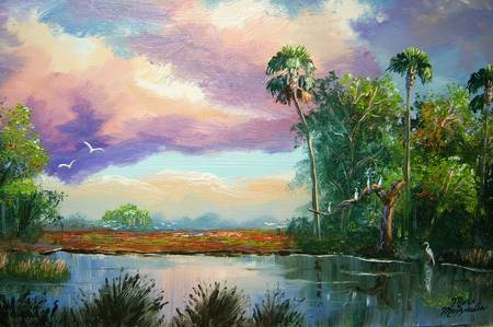 Florida Wilderness Painting