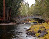 Merced River Bridge in Fall