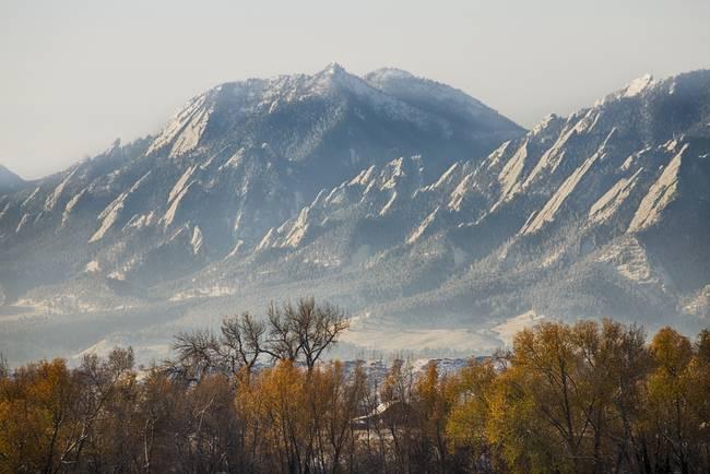 Boulder Colorado Flatirons Country Fall View
