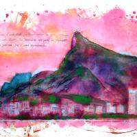 Corcovado - Botafogo bay view Art Prints & Posters by Soubem Ltda.