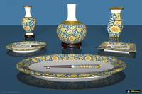Asian Art Decor Tableware - 3DC01