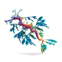 Geometric Abstract Weedy Sea Dragon