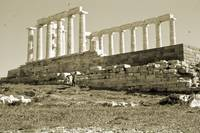 Remains, Temple of Poseidon, Sounion, Greece Gold by Priscilla Turner