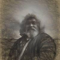 Sketch of Jake of Kodiak by Betty Sederquist