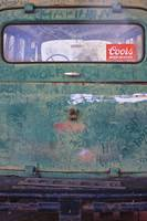 Coors Sticker on Rusty Car