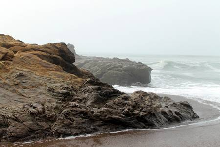 Moonstone Beach in the Fog