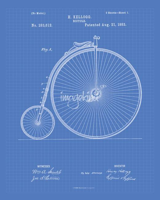 Generative art patent artwork for sale on fine art prints vintage bicycle 1883 patent art blueprint print by tawerart 2014 malvernweather Image collections