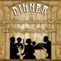 Dinner with Friends and Family Art Prints & Posters by Jillian Crider