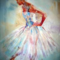 Ballet Painting - Poised To Go Art Prints & Posters by Sera Knight