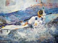 Sailing Art - Boat In Race