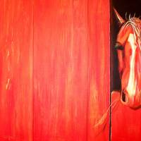 Shortcake, the Strawberry Red Roan Art Prints & Posters by Jenna Millward Corkill