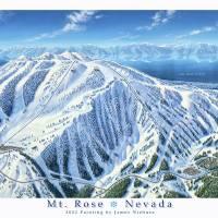 """Mt Rose, Nevada"" by jamesniehuesmaps"