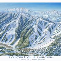 """Mountain High, California"" by jamesniehuesmaps"