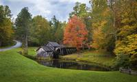 Autumn the Mabry Mill