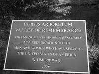 Valley of Remembrance plaque
