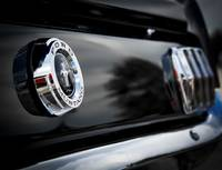 Black 66 Ford Mustang Rear Emblem Detail