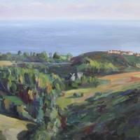 """Kanan Road View, Malibu"" by letspainttv"