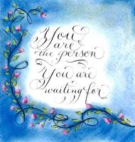 Inspirational quote calligraphy art