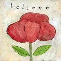 Paper Flower Red Poppy Believe