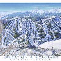 """Purgatory Colorado"" by jamesniehuesmaps"