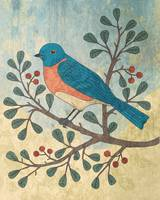 Bluebird on Berry Branch