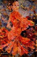 Flamenco Dancer In Orange