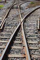 Railway Tracks in a Railyard