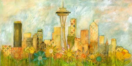 Seattle Skyline in Bloom I