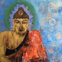 Gold Buddha Art Prints & Posters by Maru Mercado ART