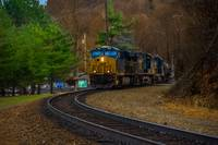 Freight Train on a Fall Day