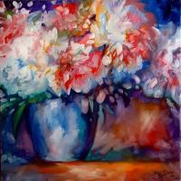 PEONY in Vase by Marcia Baldwin
