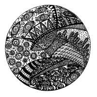Fish Zendala Art Prints & Posters by Zendoodle Art