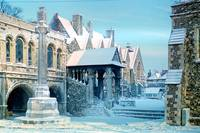 Canterbury Cathedral in Snow 5 by Priscilla Turner